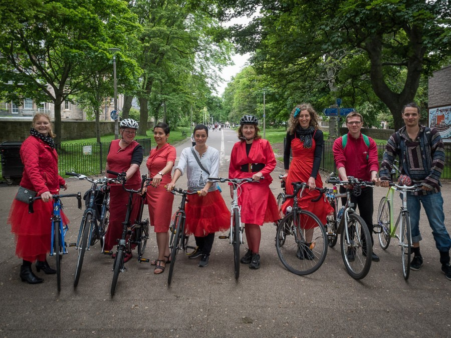 Edinburgh's Cycling Festival -  June 2016 - Cycling as performance art: Cycle Flâneur, Edinburgh